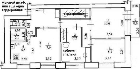 4 комнатной хрущевке 60 кв м планировка схема