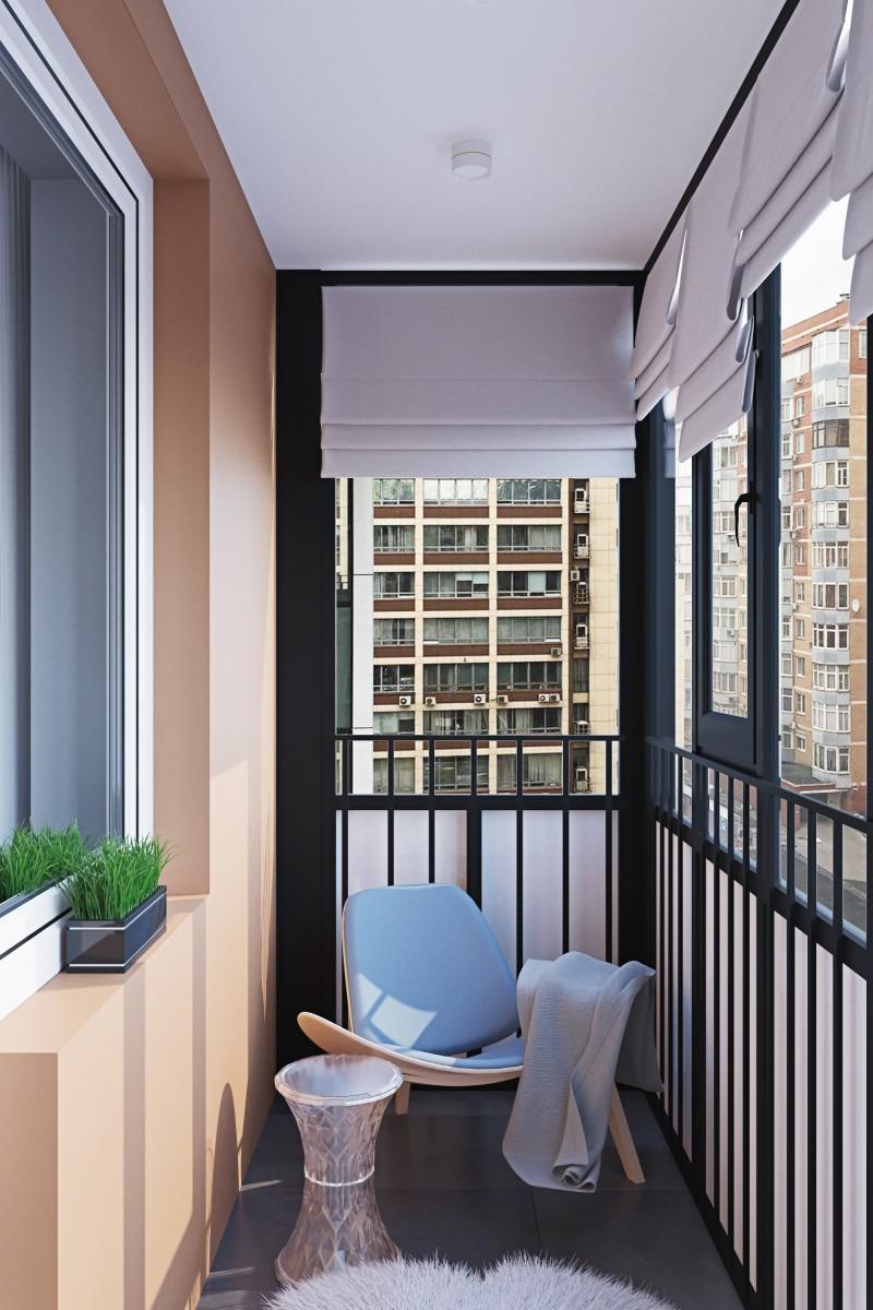 фото балкона с циан сделать красивый