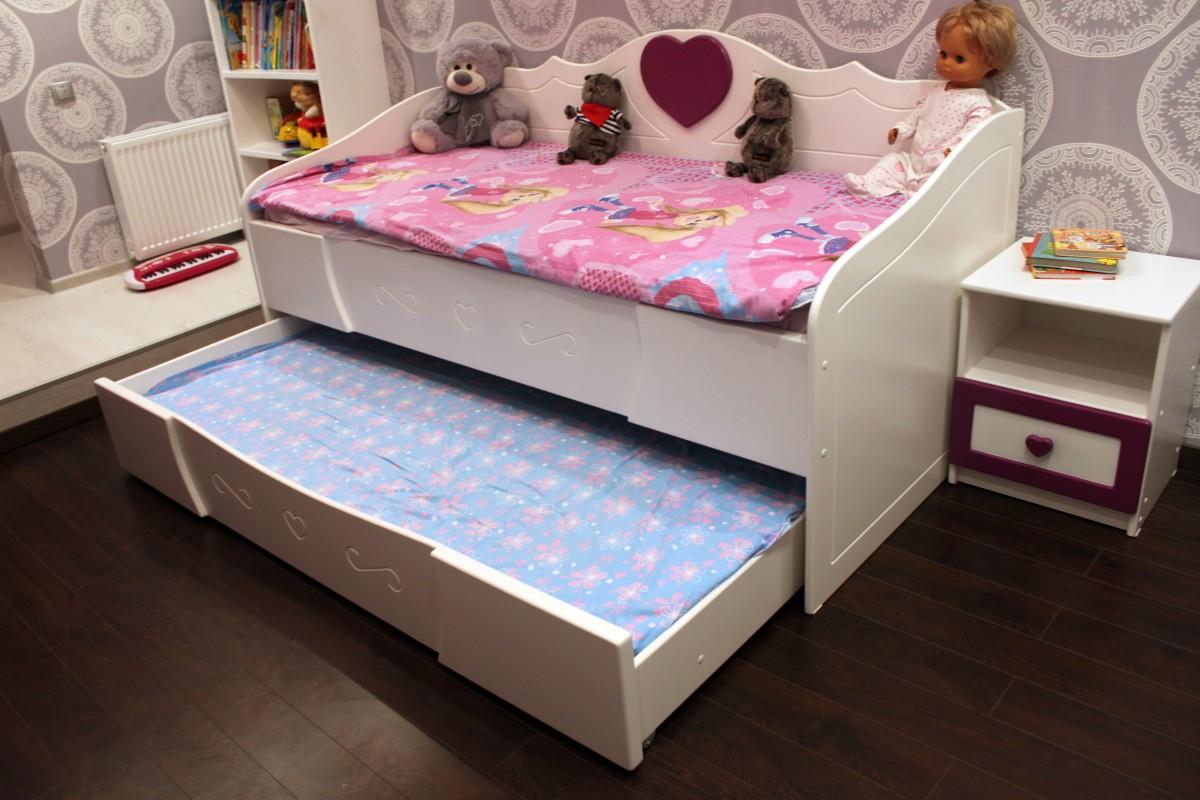 выдвижная кровать для двух деток фото яйца лучше