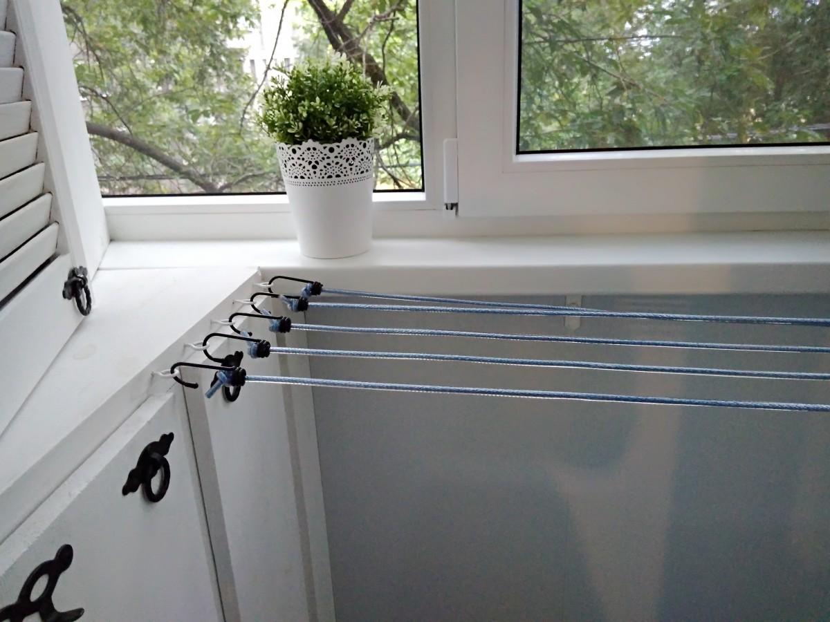 выкладывают сушилки на лоджии картинка сетки окна