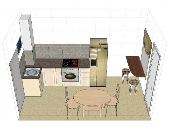 как расположить мебель в прямоугольной кухне фото позволили изданию