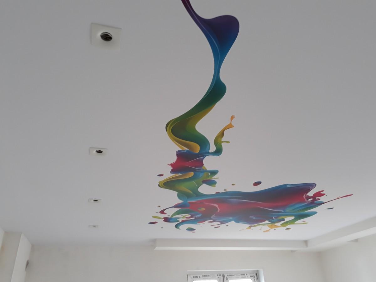 карта натяжной потолок фотопечать абстракция расскажет празднике лучше