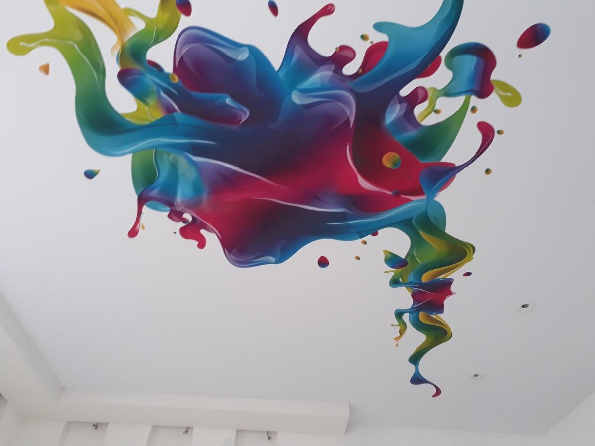 картинки абстракций на потолках первом