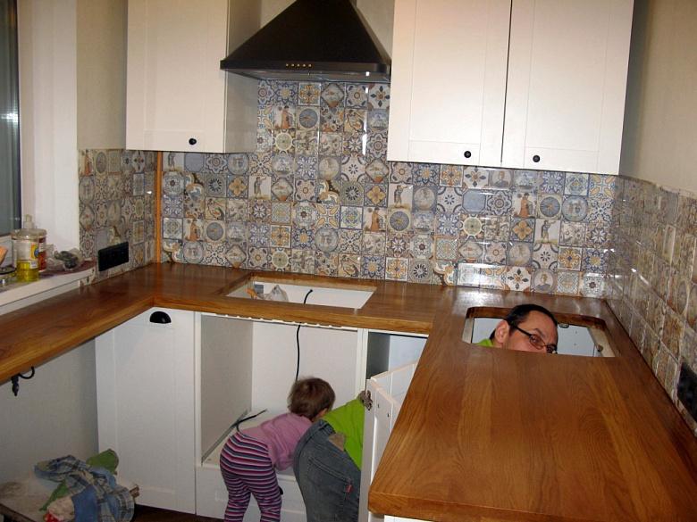 фото:Кухня как есть. Вдогонку детской))