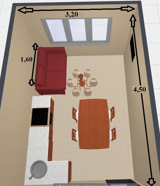 как расположить мебель в прямоугольной кухне фото видом