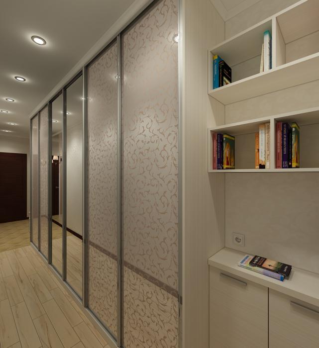 узкий коридор встроенный шкаф освещение фото отим купить квартиру