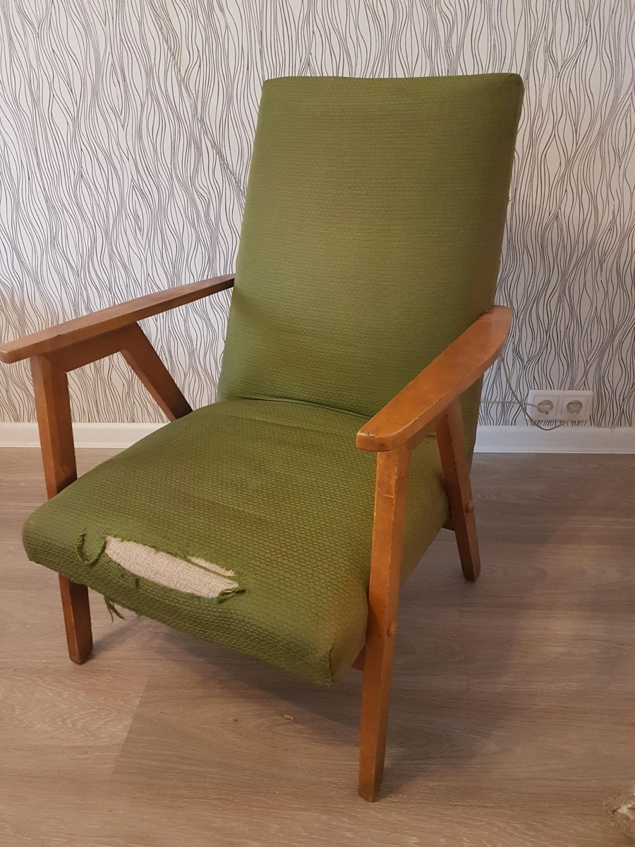 фото:Комплект два кресла+столик, восстановленные своими руками